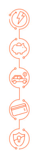 An illustration of circled icons relating to the solutions that hybrid cloud could offer