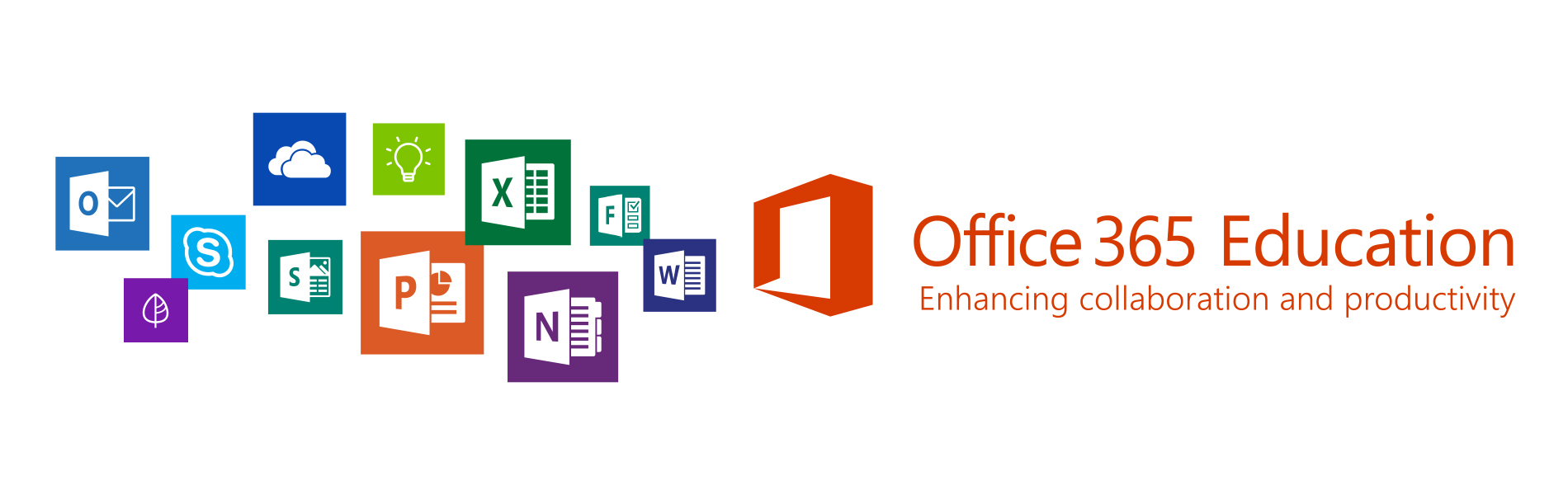 Image advertising Office 365 Education with Windows app icons