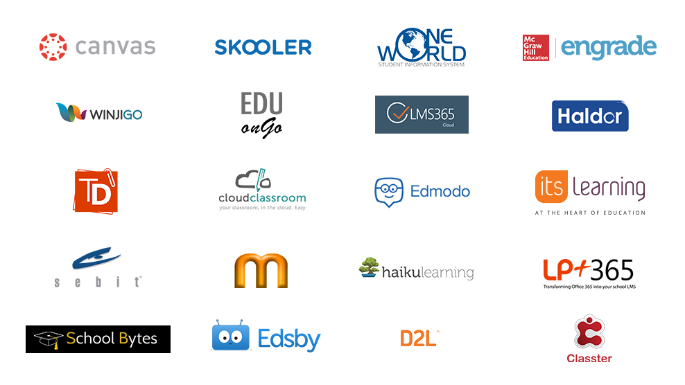 Image containing list of Learning Management System partner logos
