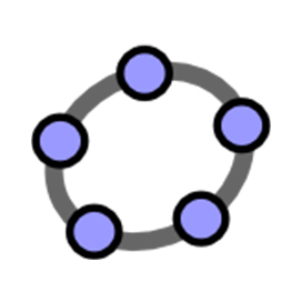 White icon with grey and purple circle.