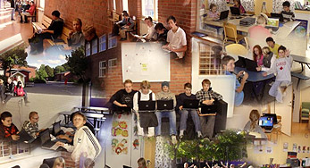 click on this Montage Image of students and things at the Bjorknas School to view their showcase story