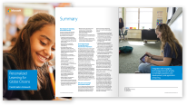 Thumbnail of an open booklet and front cover from the personalized learning pdf. Click to download this PDF file.
