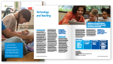 Thumbnail of the curriculum, content and assessment booklet lying open. Click to download this PDF file.